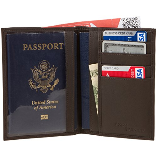 02. Access Denied RFID Blocking Napa Leather Passport Holder Wallet