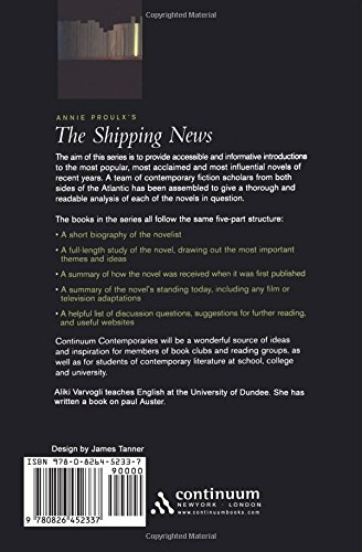 Annie Proulx's The Shipping News (Continuum Contemporaries Series)