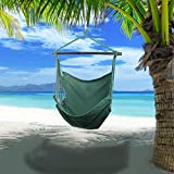 Green Hanging Chair Lawn Camp Porch Yard Hammock Swing 250lb Max Cotton Blend
