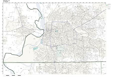 Zip Code Map of Memphis tn Zip Code Wall Map of Memphis