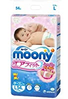 Japanese diapers - nappies Moony L (9-14 kg.)// ???????? ?????????? Moony L (9-14 kg.)