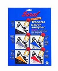 Saral Transfer (Tracing) Paper transfer paper sampler pack of 5 sheets 8 1/2 in. x 11 in. pack of 5