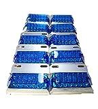トラック 用 角型 12 LED サイド マーカー ランプ 12V 24V 兼用 10個 セット ホワイト アンバー レッド ブルー グリーン レインボー カラー 各種 ダンプ カー トレーラー デコトラ 等 (ブルー)