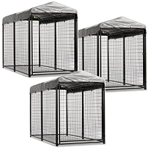Akc Jewett Cameron Pro Breeder Kennels With Cover & Frame, 4 by 8 by 6-Feet, 3-Unit