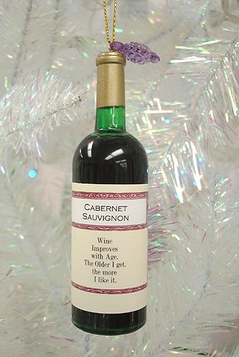 "4.5"" Tuscan Winery Cabernet Sauvignon Wine Bottle Christmas Ornament"