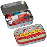 dotcomgiftshop Paisley Park Travel Sewing Kit