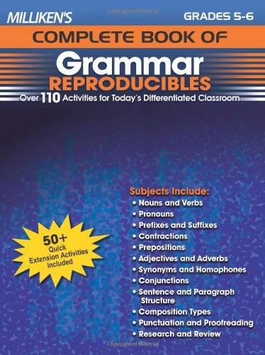 Milliken's Complete Book of Grammar Reproducibles - Grades 5-6 (Milliken Publishing Company compare prices)