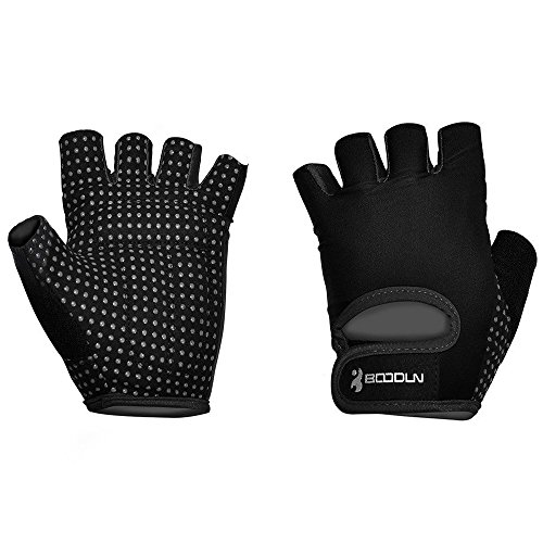 Ezyoutdoor 1 Pair Breathable Bike Half Finger Cycling Gloves Short Mesh Bicycle Biking Riding Fitness Exercise Gym Training Gloves (Black, Medium) (Cycling Jersey Black Venom compare prices)