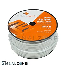 4 18 AWG Gauge 4 Conductor Speaker Wire Cable CL2 Bulk 250/' 250ft In Wall 18