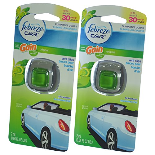 Febreze Car Vent Clips Air Freshener Odor Eliminator New: Febreze Car Vent Clip Auto, Home Office AC Air Freshener