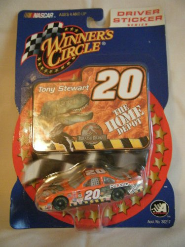 2001 Tony Stewart #20 Jurassic Park Home Depot Pontiac Grand Prix 1:64 Scale Winners Circle Sticker Edition Factory Sealed Plastic Blister Packge On Card - 1