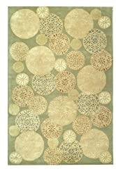 Safavieh Martha Stewart Collection MSR3259C Strolling Garden Wool and Viscose Area Rug, 7-Feet 9-Inch by 9-Feet 9-Inch, Herbal Garden