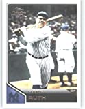 2011 Topps Lineage Baseball Card # 100 Babe Ruth - New York Yankees - MLB Trading Card in Screwdown Case!