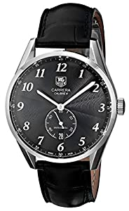 TAG Heuer Men's WAS2110.FC6180 Carrera Black Leather Strap Watch