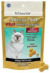 NaturVet 134854 Allergy Aid 50 Count 2-in-1 Cat Soft Chew
