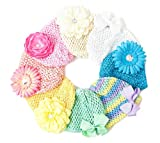 Ema Jane - Pastel Crochet Baby Beanie Waffle Hats & Hair Accessories 16 Pack