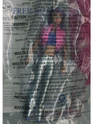 Mcdonalds Happy Meal Jam N' Glam Barbie 2001