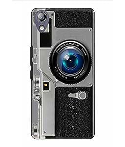 Make My Print Camera Printed Grey Hard Back Cover For Lenovo P70
