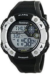 Armitron Sport Men's 40/8308BLK Black Resin Strap Digital Chronograph Watch