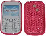 For Samsung Ch@t 335 T335 S3350 Diamond Patterned Protective Silicone Gel Case Cover Pouch TPU. (Bubblegum Pink)