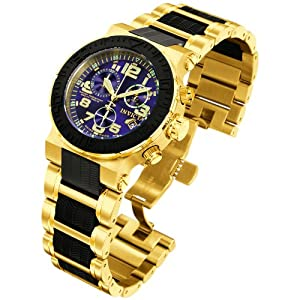 Buy Invicta Mens 6142 Reserve Collection Ocean Reef Chronograph 18k Gold-Plated Watch by Invicta