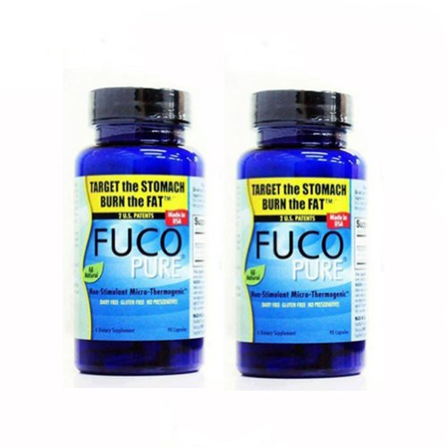 2 Bottles of Fuco Pure Dietary Supplement Weight Loss Diet Pills