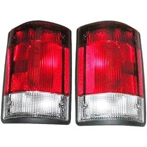 1995-2007 Ford E150 E250 E350 Econoline Van & 2000-2005 Excursion Taillight Taillamp Rear Brake Tail Light Lamp Pair Set Right Passenger AND Left Driver Side (1995 95 1996 96 1997 97 1998 98 1999 99 2000 00 2001 01 2002 02 2003 03 2004 04 2005 05 2006 06 2007 07)