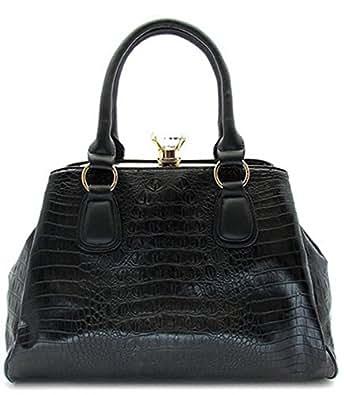 Mylux® Women/Girl Doctor Purse Style Crystal Handbag k71216L bk