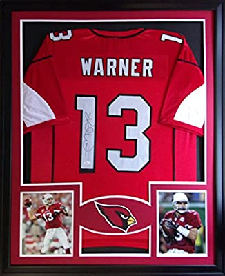 Kurt Warner Framed Jersey Signed JSA COA Autographed Arizona Cardinals