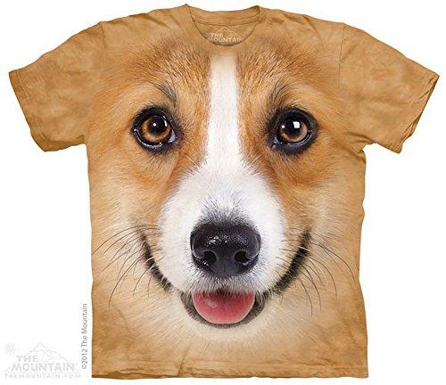 The Mountain Corgi Face Dog T-Shirt Medium