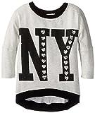 Love Daisy Big Girls NY Lightweight Sweater, Light Heather Gray, Medium
