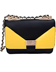 Super Drool Yellow And White Sling Bag