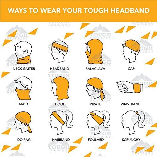 12-in-1 Headband [Prints] - Versatile Lightweight Sports & Casual Headwear - Bandana, Neck Gaiter, Balaclava, Helmet Liner, Mask & More. Constructed with High Performance Moisture Wicking Microfiber Budapest One Size