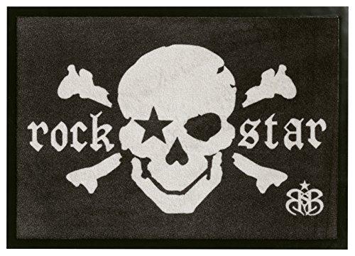 rock-star-baby-rsd-807-zerbino-100-poliammide-70-x-50-x-04-cm-colore-nero-grigio-bianco