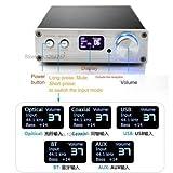【TYSJ】FX Audio D802C 80WPC Pure Digital Amplifier Wireless Bluetooth USB/AUX/Optical/Coaxial Digital Amplifier silver