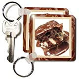 Hot Fudge Sundae Cake - Set Of 2 Key Chains