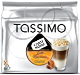 TASSIMO Carte Noire Latte Macchiato Caramel 16 T-Discs/Packet (8 Espresso + 8 Caramel Creamer from Milk) (Pack of 4, Total 64 T DISCs) c/w FREE Cadbury Chocolate Bar