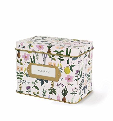 Rifle Paper Co. Recipe Box - Herb Garden (The Tin Box Co compare prices)