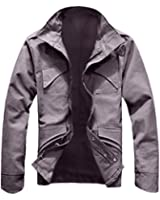 Zicac NEW Men's Military Slim Fit Spring Jacket Blazer Coat Rider Zip Button Casual Long Sleeve Outwear Long Trench Coat Birthday Gift for Him