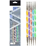 Set 5 Double Ended Nail Art Dotting and Marbling Tools 10 Dot Sizes by Cheeky®