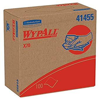 WypAll X70 Extended Use Reusable Wipers (41455), POP-UP Box, Long Lasting Performance, White (10 packs / case, 100 sheets / pack, 1,000 sheets / case)
