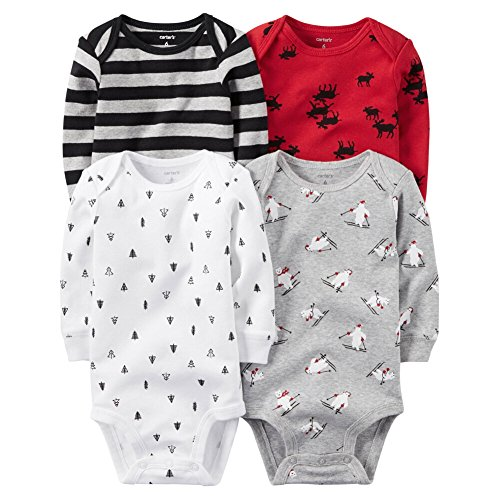 Carter's Baby Boys Multi-Pk Bodysuits 126g459, Assorted, 9M