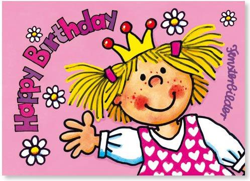 Fensterbild * Happy Birthday Prinzessin * als Einladungskarte von LUTZ MAUDER // Fensterbilder Aufkleber Sticker Geschenk Bild Karte Mädchen Pferd Kindergeburtstag Geburtstag Postkarte Einladungskarten Einladung Pink Rosa Herzlichen Glückwunsch