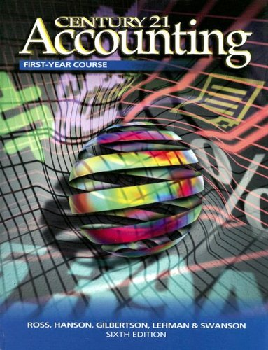 Century 21 Accounting First Year Book: Chapters 1-28