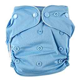 Luvable Friends All-In-One Reusable Diaper, Blue