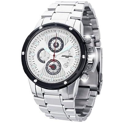 Jorg Gray Men's JG8500-23 Analog Display Quartz Silver Watch