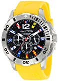 """Nautica Men's N18637G Bfd 101 """"Dive Style"""" Stainless Steel Casual Watch"""
