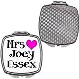 Mrs Joey Essex Pink Heart Compact Makeup Mirror Ladies Gift