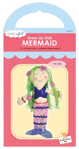 My Studio Girl Dress Up Doll Mermaid Kit, Lily (Mermaid Sewing Kit compare prices)