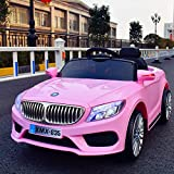 TAMCO Ride On Car Roadster, Electric Power Wheels Car Toy with Mp3 Playing Station, 4 Wheel Shock, Head Lights and Taillights, Max Load 66LB (Color: Pink)